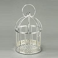 La Mini Cage à Oiseaux Argentée