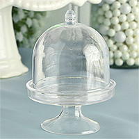Lot de 3 Mini Cloches en Pvc Transparent