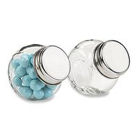 Mini Pot en Verre Contenant Confiseur Discount
