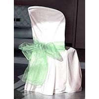 Noeuds de Chaise en Organdi Vert Jade x2