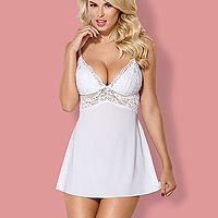 Nuisette Blanche et String Babydoll