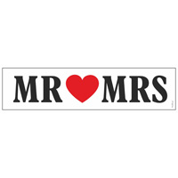 La Plaque Rectangulaire Photobooth MR and MRS