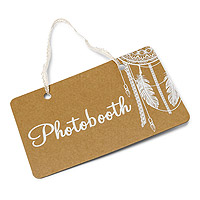Pancarte Boho Kraft Photobooth