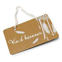 Pancarte Boho Kraft Vin d'Honneur