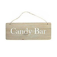 Pancarte Bois Candy bar