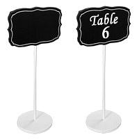 Lot 4 Pancartes Marque Table Effet Ardoise sur Pied