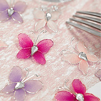 Petits Papillons Strass Décoration Mariage