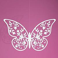Lot de 10 Papillons Ajourés Fleurs à Poser ou Suspendre