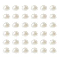 Perles Autocollantes Blanc Nacré Déco pas cher