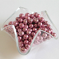 Sachet de 100 g de Billes Dragées Perles Chocolat Rose Gold