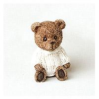 Petit Ourson Brun Céramique 4cm