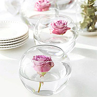 Petit Vase Boule Rond Centre Table Déco