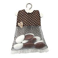 Robe Chocolat Contenant Dragées Bapteme Fille Discount