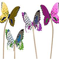 Lot de 100 Pics Papillons Métalisés pour Cocktail