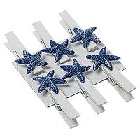 Mini Pinces Blanches Etoiles de Mer Marque Place
