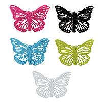 Lot de 4 Petites Pinces Papillons en Métal Ajouré