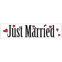 Plaque Pour Voiture Mariage Just Married Aimantée