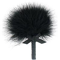 Plumeau Caresses Coquin Noir Noeud Satin