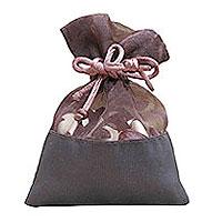 Sac Pochon Organza Satin Luxe Chocolat Contenant