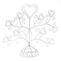 Le Portant Arbre Coeur Arabesques Métal Blanc