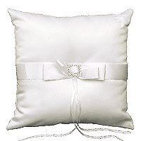 Le coussin carré porte alliances Strass Blanc