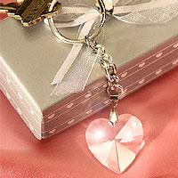 Le Porte-Clef Coeur Cristal Boite Cadeau Grise