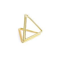 Porte Nom Carte Marque Place Triangle Or Pas Cher