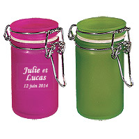 Pots Verre Givré Style Conserve Contenant Dragées