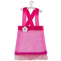 Petite Robe à Dragées Fuchsia à Bretelles Bapteme Fille