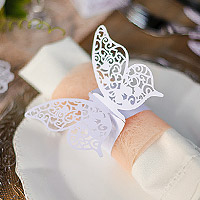 Ronds de Serviette Papillon Dentelle