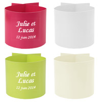 Lot de 6 Ronds de Serviette Unis