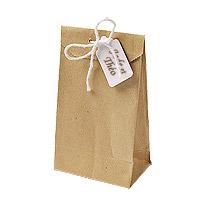 Lot de 6 Petits Sachets Cadeaux Kraft Brun Vintage
