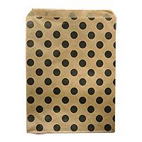 Sachets Kraft à Pois Noirs x 24