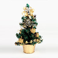 Le Sapin de Noel Artificiel Miniature 20 cm Doré
