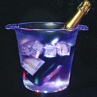 Le Seau à Champagne Lumineux Led Jeu de Lumière