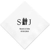 Grandes Serviettes Personnalisées Couple Mariés