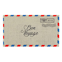 Serviette Table Rectangle Voyage Enveloppe