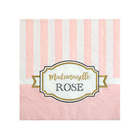 Serviettes Papier Baby Shower Mademoiselle Rose x20