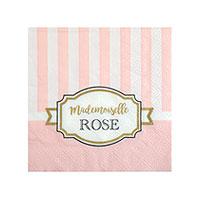 Serviettes Papier Baby Shower Mademoiselle Rose x20