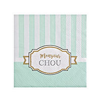 Serviettes Papier Baby Shower Monsieur Chou x20
