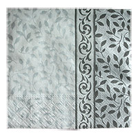Serviettes Papier Arabesques Gris