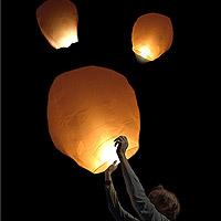 Sky Lantern à Voeux Blanc Dome Discount Pas Chere