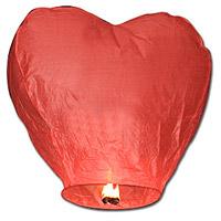 Sky Lantern Coeur Mariage Rouge