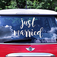 Sticker Autocollant Lettre Just Married