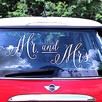 Sticker Autocollant Lettre Mr and Mrs