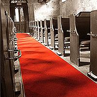 Tapis d'Eglise ou Salle Velours Imperméable Top Luxe 1m