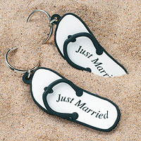 Porte Clefs Mini Tongs Just Married Mariage