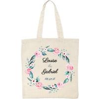 Tote Bag Personnalisé Couronne de Fleurs x10