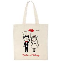 Tote Bag Personnalisé Mariés