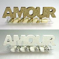 Tubes Pvc Dragées Metal Lettre Amour